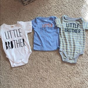 3-6 month little brother shirts